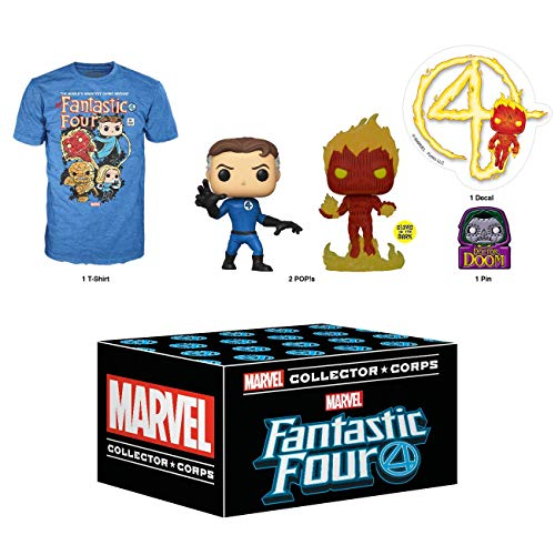 Funko Marvel Collector Corps Subscription Box, Fantastic Four - 2XL, January 2020
