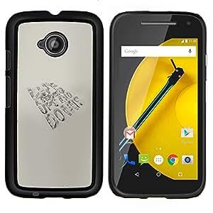 """Be-Star Único Patrón Plástico Duro Fundas Cover Cubre Hard Case Cover Para Motorola Moto E2 / E(2nd gen)( Vida - altibajos"""" )"""