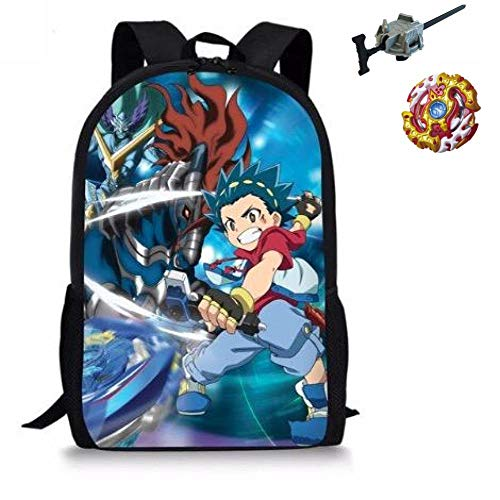 Manalo Bey Blade Burst Turbo Backpack with Bay blade Burst and Launcher INCLUDED AS A FREE GIFT,(J)