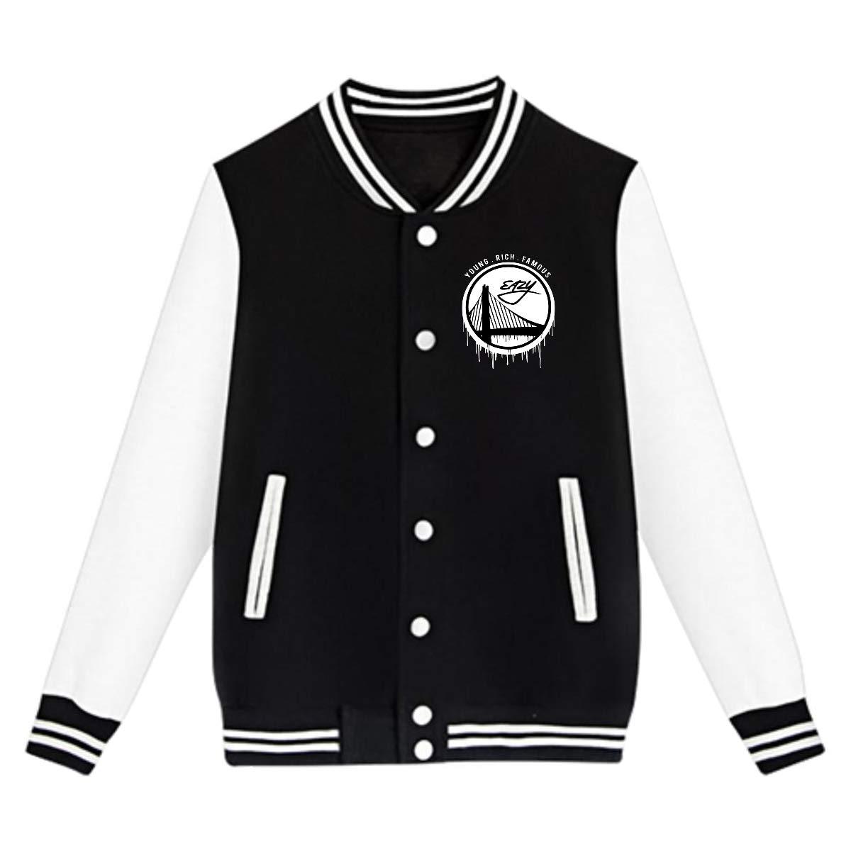 LIALUER G-Eazy The Bay Logo Kids Baseball Jacket Uniform V Sweater Coat