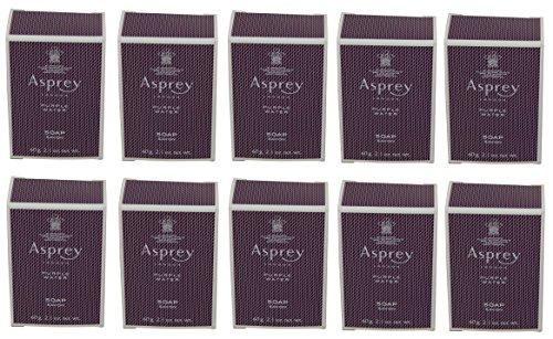 Asprey Purple Water Soap lot of 10 each 2.1oz bars. Total of 21oz -