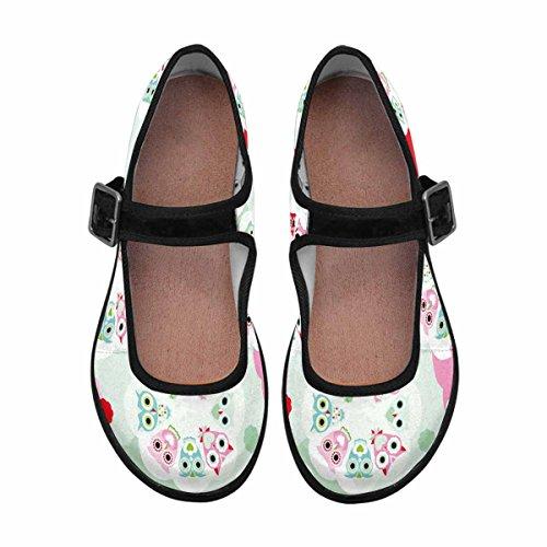 Interestprint Womens Comfort Mary Jane Flats Casual Scarpe Da Passeggio Multi 10