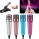 Mini Condenser Microphone,Uniwit® Mini Portable Vocal/Instrument Microphone For Mobile phone laptop Notebook Apple iPhone Sumsung Android With Holder Clip - Rose Red