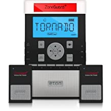 CRCZG200W Zone Guard Plus S.A.M.E. Weather Alert Clock Radio with Light Bar (Black)