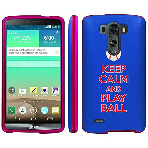 Mobiflare, Slim Guard Armor Design Pink Case, for [LG G3] - Keep Calm and Play Ball - Chi Town - Mlb Cell Phone Cover
