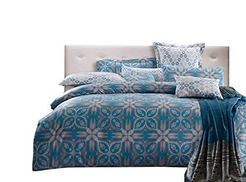 Silk Camel Luxury 300TC 100% Cotton 3-Piece Bedding Set - 1 Duvet Cover 2 Pillow Shams (Aila - Twin Size)