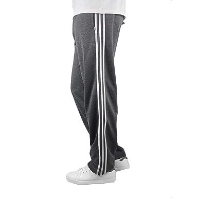 Homme Pantalons Jogging Mode Casual Sport Pantalon 3 Stripes Taille élastique Jogging Bas de Survêtement Loose Coupe Droite