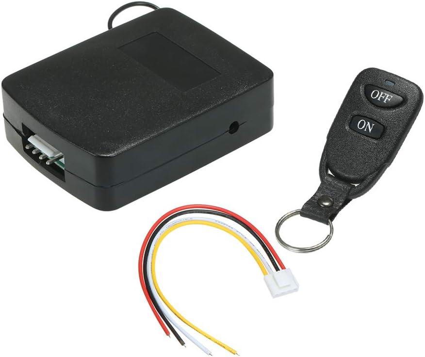 OWSOO Interruptor Remoto Inalámbrico 433Mhz DC 12V-24V 1CH Smart Switch 1PCS Receptor de Relé + 1PCS RF Transmisor Universal de Control Remoto 1527