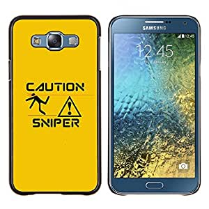 Stuss Case / Funda Carcasa protectora - Sniper Caution - Samsung Galaxy E7 E700