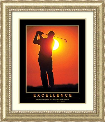 Framed Art Print 'Excellence golf '
