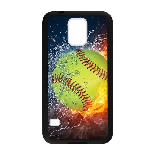 Generid Custom Softball Fire 02 Design Phone Case PhoneCase Cover For for Samsung Galaxy S5