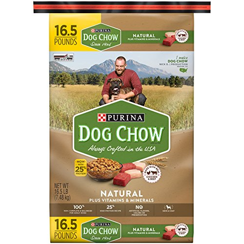 Purina Dog Chow Natural Natural Made with Real Chicken and Beef Adult Dry Dog Food - (1) 16.5 lb. (Canine Plus Chicken)