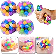 Stress Relief Balls for Kids and Adults, DNA Squeeze Balls Toys, Clear Silicone Sensory Squeeze Balls for Alle