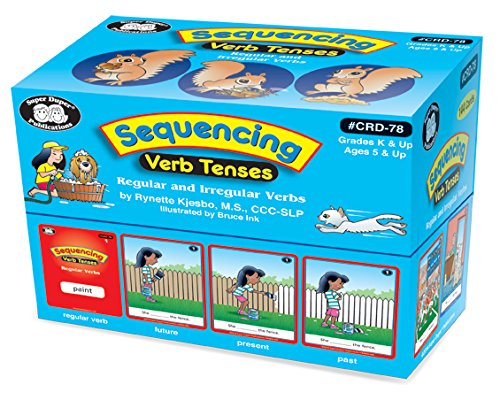 Super Duper Publications Sequencing Regular and Irregular Verb Tenses Fun Deck Flash Cards Early Reader Educational Learning Resource for Children by Super Duper Publications