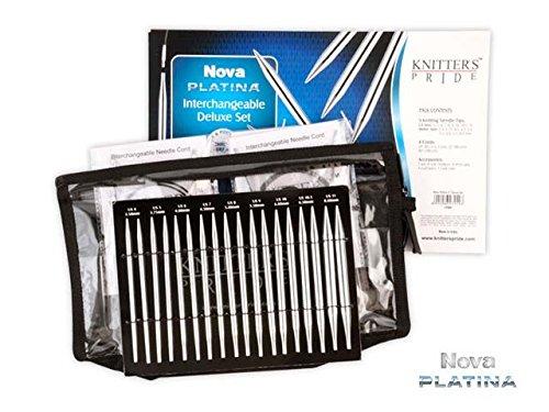 Knitter's Pride KP120601 Nova Platina Deluxe Interchangeable Needles Set from Knitter's Pride