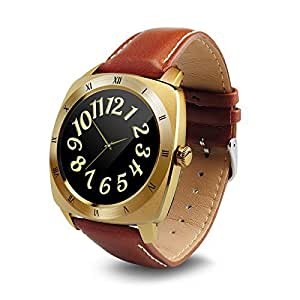 DM88 Smart watch 1.2 inch TFT Capacitive Touch screen Bluetooth watch support Heartrate for ios Apple phone Android phone (GOLD)