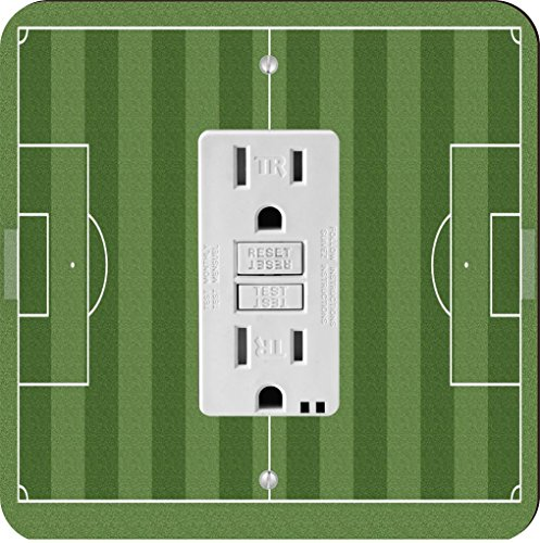 Rikki Knight 9269 Soccer Football Field Aerial View Design Light Switch Plate by Rikki Knight