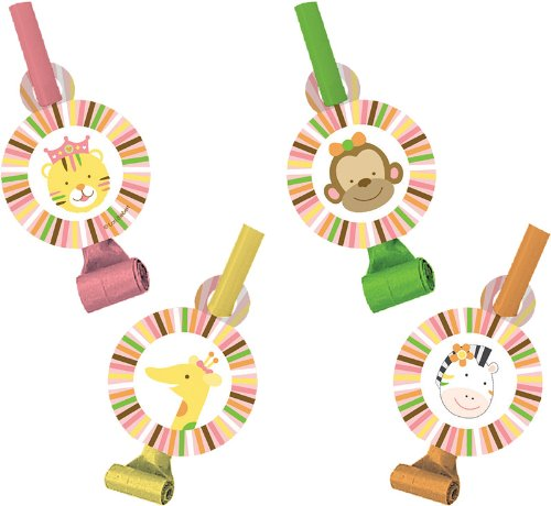 [Creative Converting Sweet at One Girls Birthday Party Blowouts, 8 Count] (Creative Costumes Nyc)