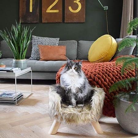 District 70 Nordic Cat Bed 40 x 40 x 25 cm White
