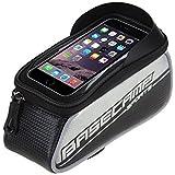 Basecamp Borsa /custodia touch screen bicicletta Ciclismo anteriore per bicicletta telaio in tubo superiore sacchetto in PVC trasparente per 5 iphone 6s plus / iphone 6 plus / iphone 6s / iphone 6, 5S / 5 / 5C / 4S / 4, Samsung Galaxy s6 edge/ s6 edge+/S4 / S3 (grigio)