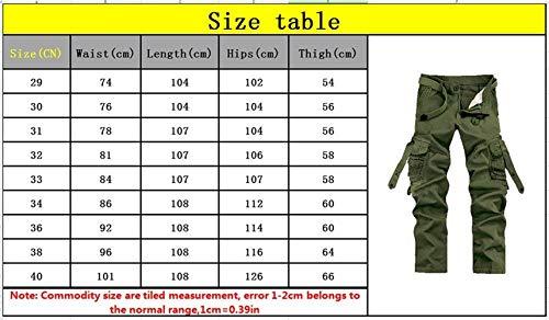 Sportivi Casual Cargo Abbigliamento Multiuso Uomo Nero Pantaloni Da Lavoro Adelina Retrò qp5CHwx