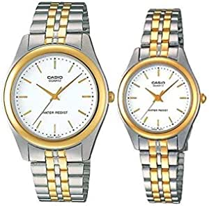 Casio His and Her pair watch MTP/LTP-1129G-7A