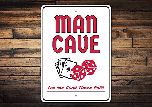(T56imh Gamble Man Cave, Card Cave Decor, Poker, Texas Holdem Decor, Poker House Gift Sign, Poker Decor, Room Decor, Metal Sign, Quality Metal)