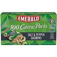 Emerald Nuts, Salt and Pepper Cashews 100 Calorie Packs, 7 Count Box