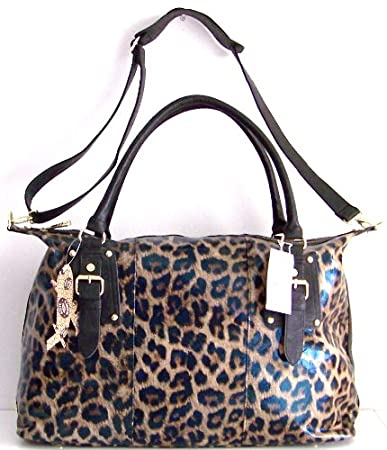 7cafb665a2f1 Amazon.com   Steve Madden Leopard XL Tote Weekender Carryall ...