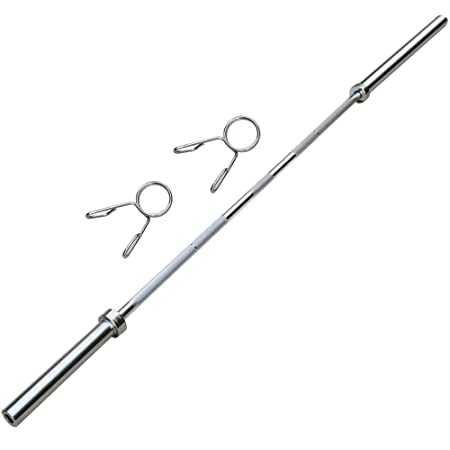 Topeakmart Olympic Barbell Bar 7 Feet Chrome Weight Lifting Bar Weight Bench