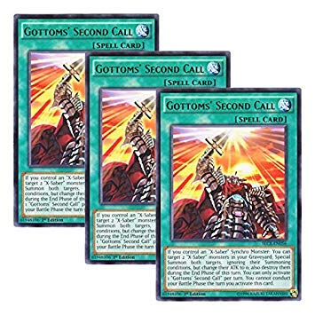 Yu-Gi-Oh! y3 Pieces setz English Version SECE-EN 056 Gottoms' Second Call Gatm's Emergency Call (Rare) 1st Edition