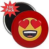 CafePress - Heart Eyes Emoji - 2.25'' Magnet (100 pack)