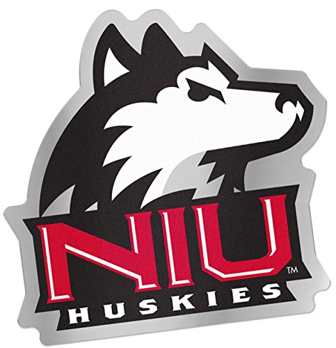 Northern Illinois University Huskies Auto Badge Decal, Hard Thin Plastic, 4x3.8 inches