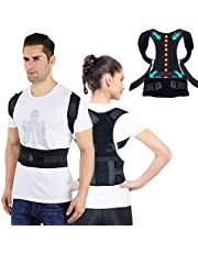Sports Posture Corrector Spinal Support, BAMOMBY Physical Therapy Posture Brace for Men or Women - Back, Shoulder, and Neck Pain Relief - Spinal Cord Posture Support Black Medium