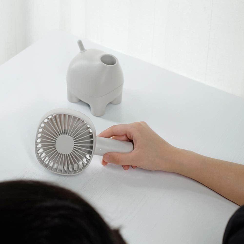 Color : Pink XIAOXIONG Small Fan Shaking Head Handheld Fan USB Portable Rechargeable Fan Mini Desktop Office Mute 5V 1A 6W