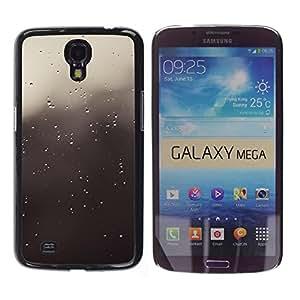 LECELL--Funda protectora / Cubierta / Piel For Samsung Galaxy Mega 6.3 -- Gotas grises --