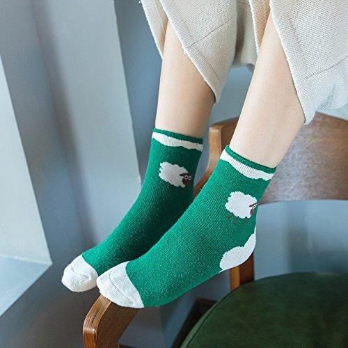Generic 5 pairs installed new cartoon sheep in tube socks socks Cotton Flax Miss Mao Quan School of wind socks wool socks