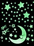 Glow In The Dark Stars Set - Ceiling and Wall Set for Children's Bedrooms - 100 Exciting Galaxy Items For Kids of All Ages Large in Size