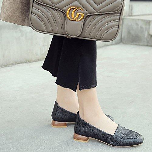 Latasa Dames Comfort Slip Op Loafers Zwart