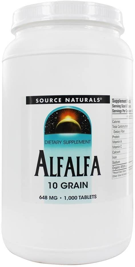 Source Naturals Alfalfa 10 Grain Dietary Supplement - 1000 Tablets: Health & Personal Care