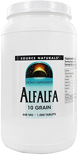Alfalfa 648mg 1000 Tablets