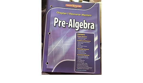 Glencoe Pre Algebra Chapter 1 Resource Masters Many