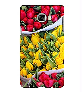 Fuson Designer Back Case Cover for Samsung Galaxy C5 SM-C5000 (Flowers Lotus Nature Colourful)