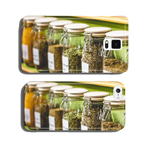 glass jars with spices cell phone cover case (Spice Mobile)