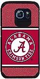 Alabama Crimson Tide Team Color Football Pebble Grain Feel Samsung Galaxy S6 Case,One Size,Red