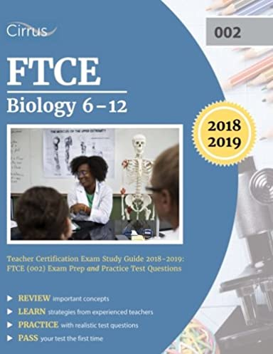 ftce biology 6 12 teacher certification exam study guide 2018 2019 rh amazon com Endocrine Study Chart Semester Study