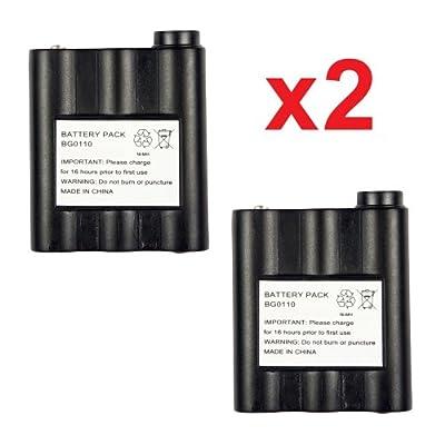 2 Pack Fenzer Replacement Two-Way Radio Batteries for Midland BATT5R BATT-5R by Fenzer