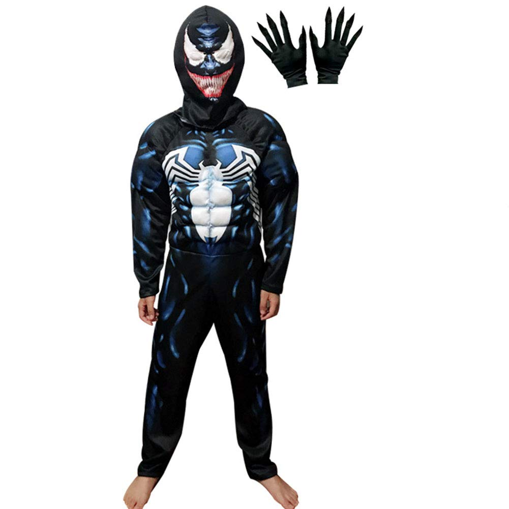 Venom Costume Kids,3D Venom Cosplay Costume for Boys Bodysuit Romper