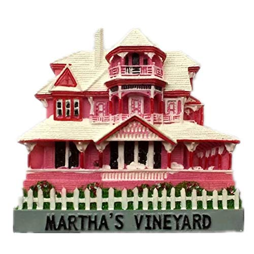 Martha's Vineyard Massachusetts America USA Fridge Magnet 3D Resin Handmade Craft Tourist Travel City Souvenir Collection Letter Refrigerator Sticker]()