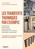 Les transferts thermique par l'exemple: Conduction-Convection-Rayonnement-Echangeurs de chaleur-Méthodes numériques. 71 problèmes d'application résolus. méthodes et formulaires.
